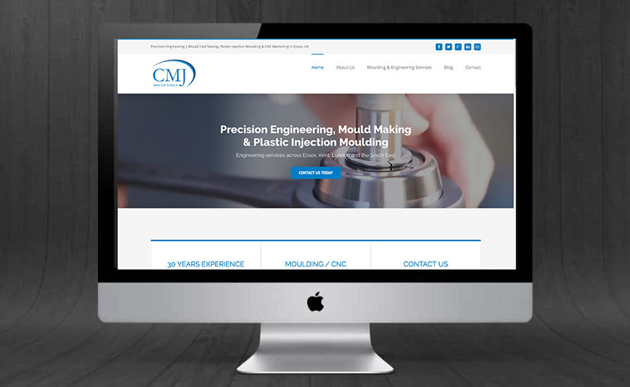 CMJ Mould Tools Website Design